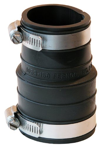 Rubber Flexible Coupling (Fernco P1059-150 1-1/2-Inch by 1-1/2-Inch Rubber Flexible Coupling Repair Fitting)