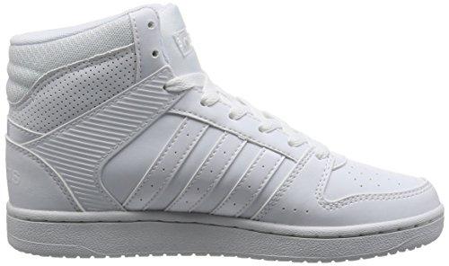 adidas VS HOOPSTER MID W - Zapatillas deportivas para Mujer, Blanco - (FTWBLA/FTWBLA/FTWBLA) 37 1/3