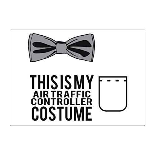 [Teeburon this is my Air Traffic Controller costume Pack of 4 Stickers] (Traffic Controller Costume)