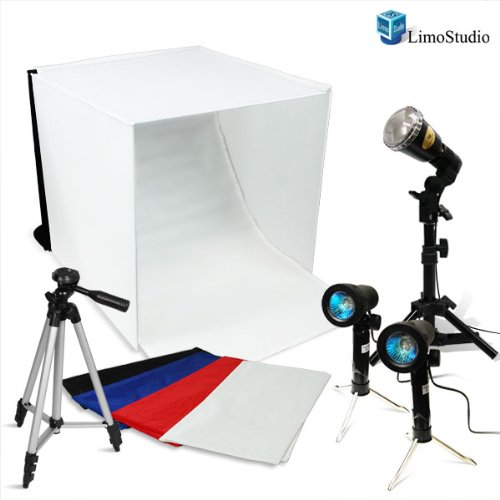 LimoStudio Photography Table Top 16'' Photo Studio Light Tent Kit with Flash Strobe Lighting Kit, AGG1093 by LimoStudio