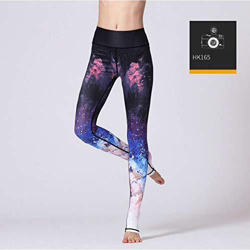 Pants Pant Sportswear Workout Hk165 Yoga Leggings High Printed Gsyjk Trousers Running Women Sport Flower Waist Fitness Slim Sports qFn1wOv