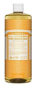 Dr. Bronner's Magic Soaps 18-In-1 Hemp Citrus Orange Pure Castille Soap, 32-Ounce Bottle