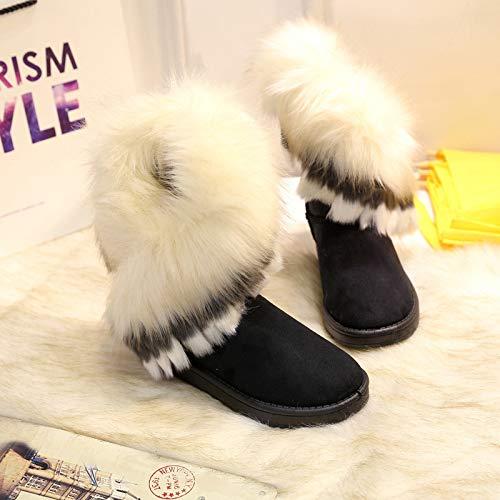 Amocon Schneeschuhe Winterstiefel Flache Und Kurze Dicke Stiefel Warme Stiefel Kurze Und Stiefel 75f986