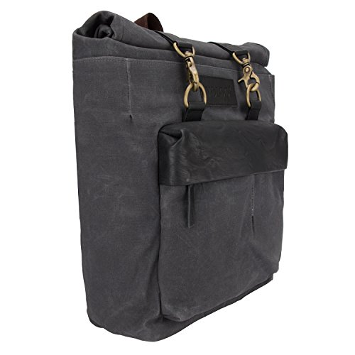 Amsterdam Rolling Garment Bag (Hampi Outdoor Roll-Top Laptop Backpack for Men & Women college girls boys fits 16 inch Laptop Canvas & Vegan Leather 25 Ltr Handcrafted Weekender Travel Multipurpose Rolling Fashion Rucksack camping)