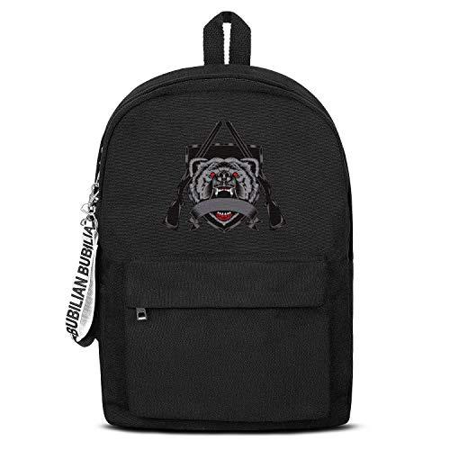 (Pwisxn Schoolbag Notebook Business Affairs Motion Black Gun Bear Mens,Womens,canvasBackpack Black Bag Beautiful Businessschoolbag)