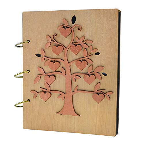 Giftgarden Family Tree 5x7 Photo Album Wood Photo Book 120 Pockets (Album Christmas 5x7 Photo)