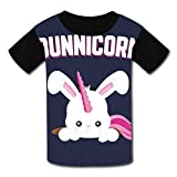3D Printed Shirts,Bunny Unicorn Children Youth T-Shirts Boy Girl Casual Short Sleeve Shirt for Kids Tee