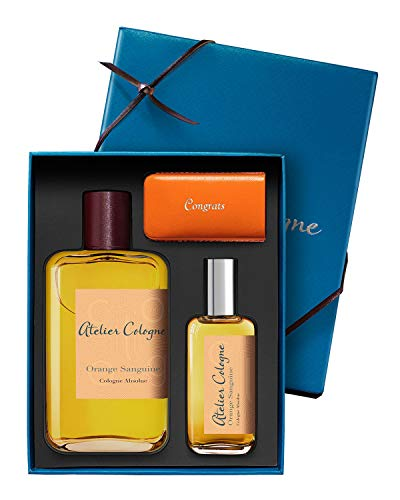 NIB Orange Sanguine Cologne Absolue, 200 mL with Travel Spray, 30 mL (Color of case varies) New Look! ()