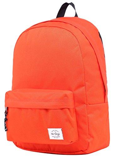 SIMPLAY Mochila Escolar Clásico   44x30x12,5cm   Colores Variados   Turquesa D194I, Rojo Naranja