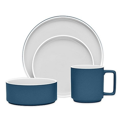 Noritake ColorTrio Stax 4-Piece Place Setting in Blue