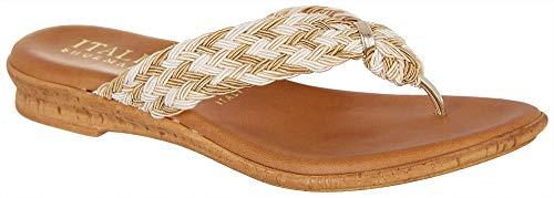 ITALIAN Shoemakers Womens Casey Dress Sandals 7 Beige Multi