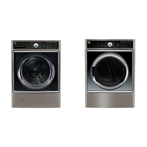 Kenmore Elite Front-Load Laundry 5.2 Gas Dryer Bundle - M...