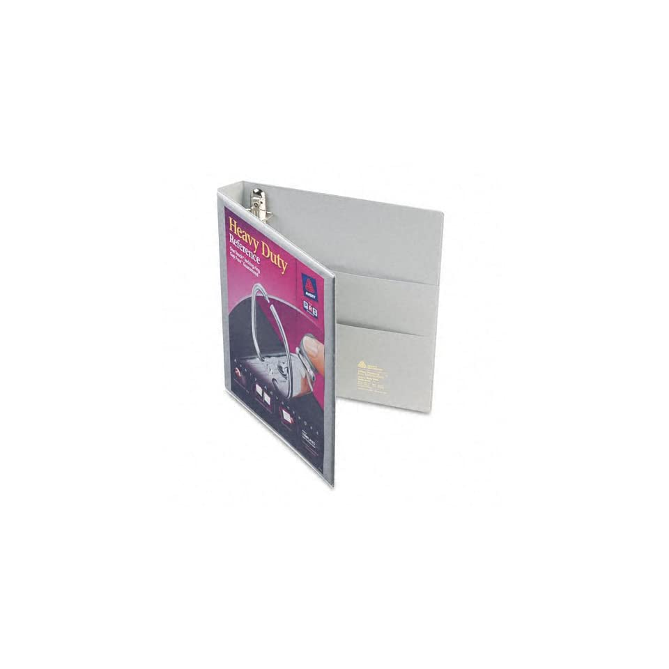 Avery Products   Avery   Nonstick Heavy Duty EZD Reference View Binder, 1 Capacity, Gray   Sold As 1 Each   Extra wide cover for use with top loading sheet protectors and extra wide dividers.   Nonstick, archival safe material wont lift ink or toner off