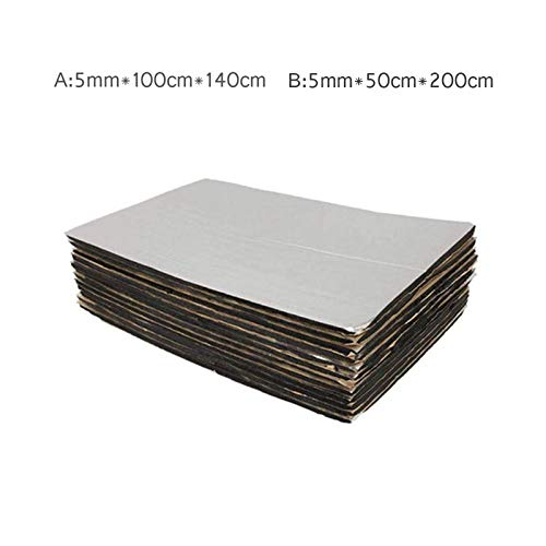 Esterilla Aislante de Calor para Coche Baiwka Aislamiento Aislante 50cm*200cm Resistente al Agua y a la Humedad Aislamiento de Ruido