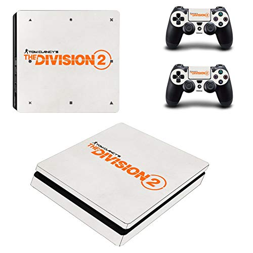 Playstation 4 Slim Skin Set - The Division 2 HD Printing Vinyl Skin Cover Protective for PS4 Slim Console and 2 PS4 Controller by Mr Wonderful Skin
