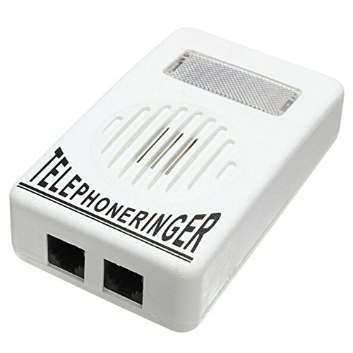 AKOAK Loud Sound Telephone Ring Ringer Amplifier Volume Enhancer with Light Flasher for Landline Telephone