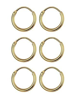 WOXIA 3 Pairs Stainless Steel Small Cartilage Hoop Earrings For Men Women Unisex Endless Hoop Earrings 10MM