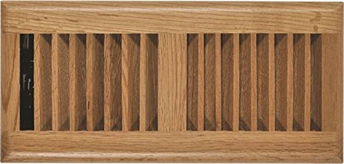 Rocky Mountain Goods Floor Register Vent - 4-Inch by 10-Inch - Easy Adjust air Supply Lever - Premium Finish - Heavy Duty to Allow Walk on use (Oak Wood) ()
