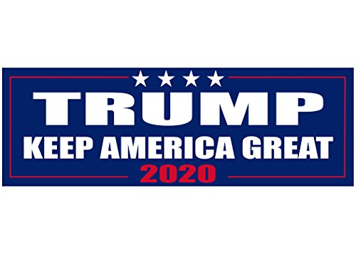 Keep America Great Elect President Donald Trump 2020 Election Patriotic Bumper Sticker Car Decal Conservative Republican USA (94 Country With Blue On Its Flag)