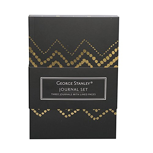 Mini Journal Set (George Stanley Mini Journal Set by Gartner (TM) Studios, Black & Gold, 4 1/8