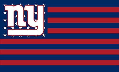 New York Giants Stars and Stripes NFL Flag Banner - 3X5 FT - Red USA Flag