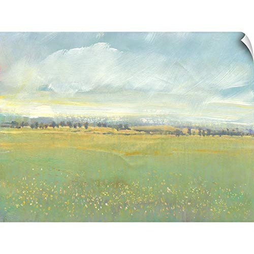 CANVAS ON DEMAND Soft Meadow Light II Wall Peel Art Print, - Canvas Meadow 2