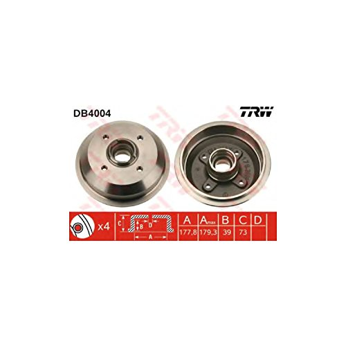 TRW DB4004 Brake Drums: