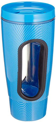 Sammons Preston Easy Grip Hand in Mug, 16 oz, Internal Handle for Drinking Without Grasping Cup, Durable Polycarbonate with Easy-Open Lever & Rotating Lid, Kitchen Aid for Weak Grip, Assorted Colors