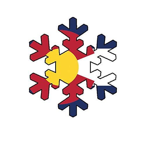 "Morgan Graphics Colorado Snowflake Sticker Decal Vinyl CO Snow Flake Snowboard Skiing skii Vinyl Decal Sticker Car Waterproof Car Decal Bumper Sticker 5"""