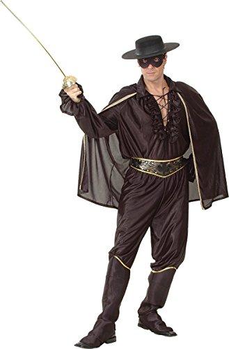 Super Deluxe Zorro Costumes - Men's Zorro Super Hero Fancy Dress Party Outfit Deluxe Bandit Man