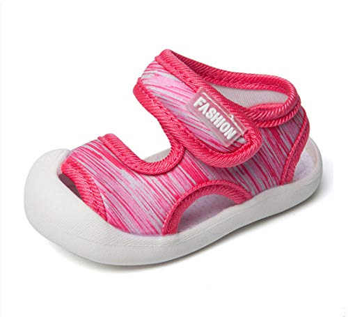 Boys Girls Athletic Sports Sandals Open-Toe Breathable Rubber Sole Beach Water Shoes for Toddler (4.5 M US Toddler, ()