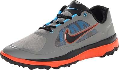NIKE Golf Men's FI Impact Golf Shoe, Med Base Grey/Team Orange//Black, 10 D(M) US