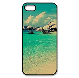 Tropical Beach Watercolor style Cover iPhone 5 and 5S Case (Beach Watercolor style Cover iPhone 5 and 5S Case)