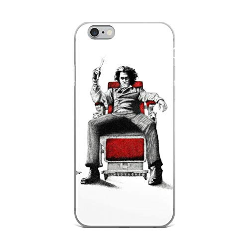iPhone 6 Plus/6s Plus Case Anti-Scratch Motion Picture Transparent Cases Cover Sweeney Todd Pen Drawing Movies Video Film Crystal Clear -