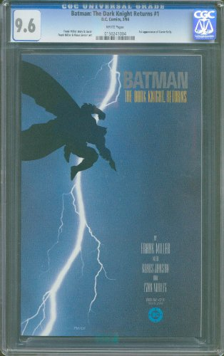 BATMAN THE DARK KNIGHT RETURNS # 1 FIRST PRINT CGC-GRADED 9.6 NEAR MINT+ ITEM # 18350