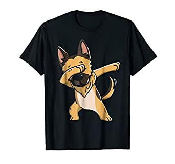 Amazon.com: Dabbing - Camiseta para pastor alemán: Clothing