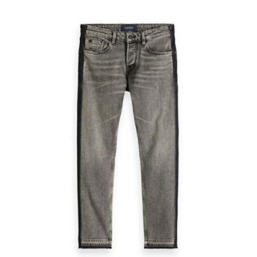 Scotch & Soda   Ralston Cropped Customized Rock Regular Slim Fit Jeans Grey   S&S_150960 3036-34