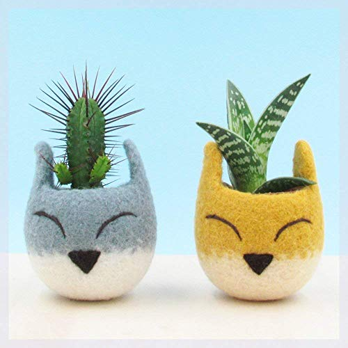 - Succulent planter/Fox head planter/cactus pot/kitsune vase/warming gift/Fox lover gift/home decor/cabin decor/Set of two
