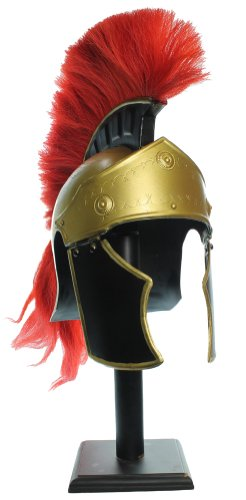 Helm Gladiator (RedSkyTrader Mens Roman Officer Plumed Helm One Size Fits Most Gold)