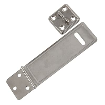 uxcell Gates Door Mate Latch Silver Tone Metal Hasp Staple Pair