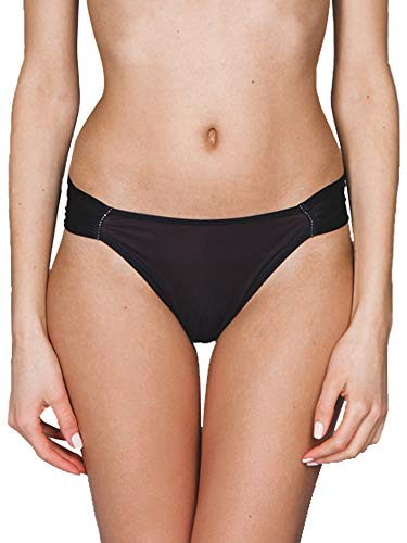 Maison Lejaby 8761-04 Women's Crystal Black with Lace Panty Tanga Knickers 08761-04 Large ()