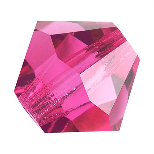 (Preciosa Czech Crystal Bicones Glass Beads 4mm 'Rose Pink')