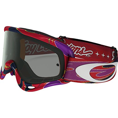 Oakley XS O-Frame MX TLD Collection Adult Off-Road Motorcycle Goggles Eyewear - Reflection Orange Purple/Dark Grey/One Size Fits All
