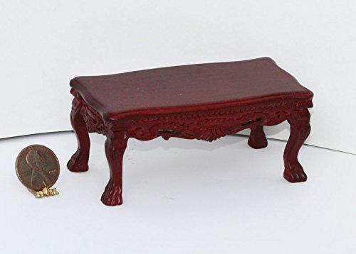 Dollhouse Miniature Victorian Mahogany Coffee Table