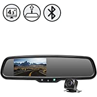 Rear View Safety RVS-776718-BT OEM G-Series Backup Camera System with Replacement Mirror Monitor with Built-in Bluetooth