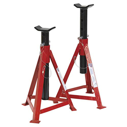Sealey AS3000 Axle Stands (Pair) 2.5tonne Capacity per Stand Medium Height SEAAS3000