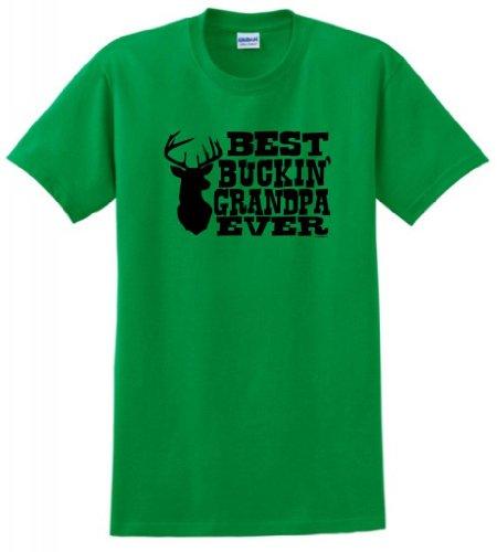 Best Buckin' Grandpa Ever T-Shirt 2XL Green ()