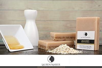 Oatmeal Milk & Honey Soap, Handmade in the USA, 100% Organic Soap, For All Skin Types, Face & Body, Men, Women & Teens, Anti-Aging Revitalizing by Lauren Marier
