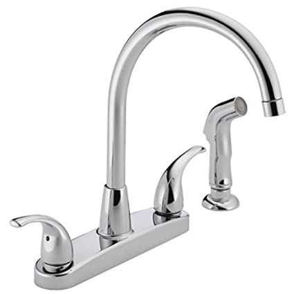 Peerless Tunbridge 2-Handle Kitchen Sink Faucet with Side Sprayer Chrome P299578LF - Touch On Kitchen Sink Faucets - Amazon.com  sc 1 st  Amazon.com & Peerless Tunbridge 2-Handle Kitchen Sink Faucet with Side Sprayer ...