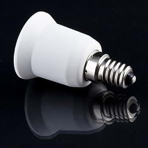 Aistuo E14 a E27 base del zócalo del convertidor del adaptador con rosca Edison, 500w máxima potencia, 200 ℃ resistente al calor, no Peligro de Incendio (paquete de 4)